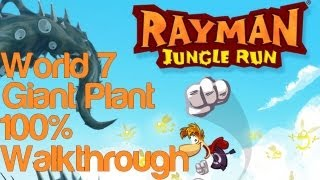 Rayman Jungle Run World 7 Giant Plant Update 100% Complete Walkthrough w/ Bonus Secret Level