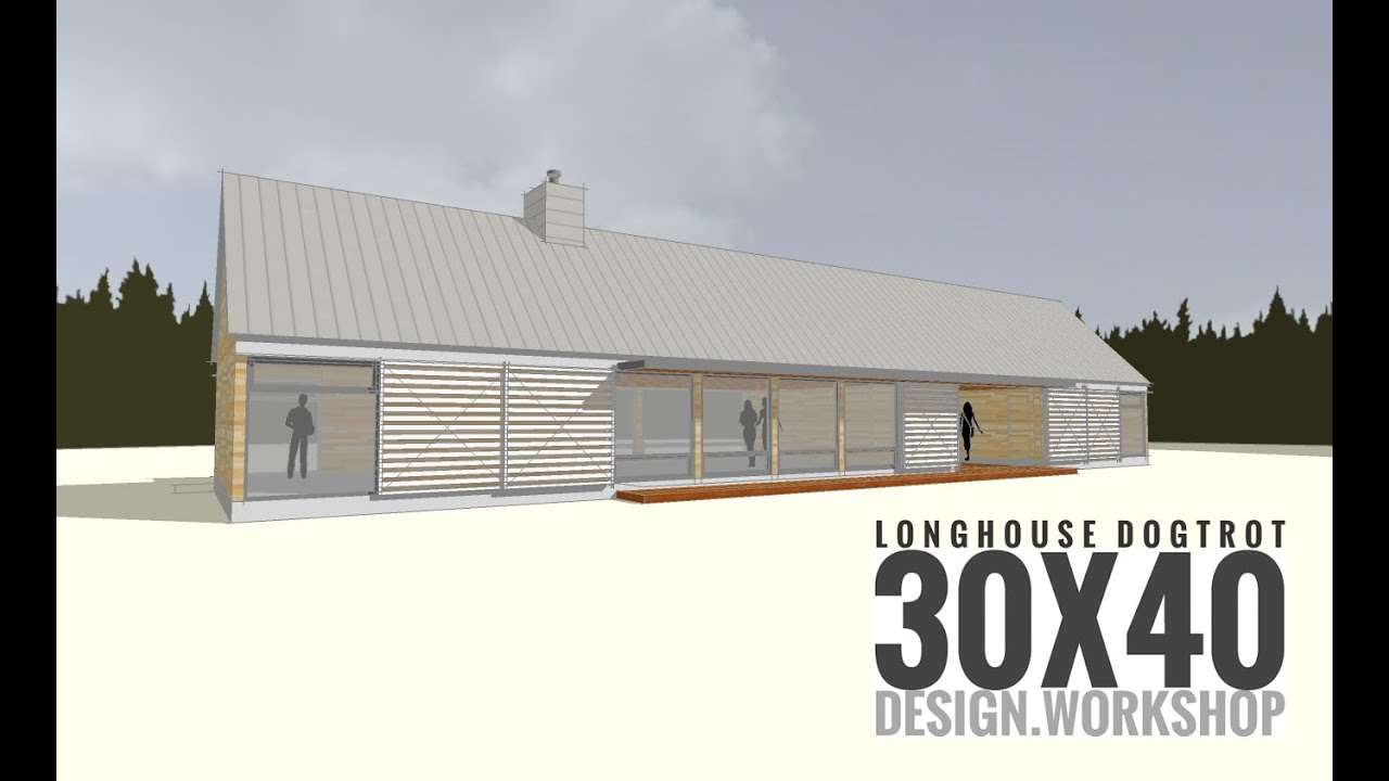 Longhouse dogtrot design youtube for Modern long house plans