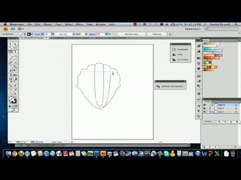 How To Make Seashells In Illustrator : Adobe Illustrator Tutorials