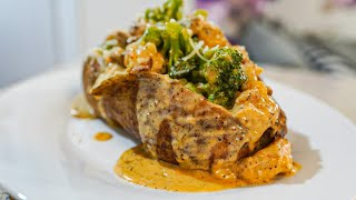 Loaded Baked Potato Wİth Chicken and Broccoli