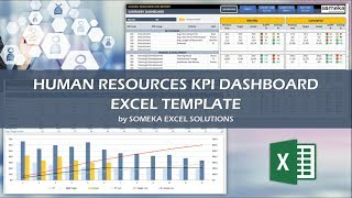 Download here: https://www.someka.net/excel-template/hr-kpi-dashboard/ this excel hr(human resources) kpi dashboard template incorporates 20 most used key me...