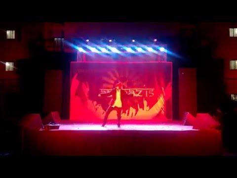 "Anshay Chopra | Dance to ""Uptown Funk"" at Aaghaz 2015 | National Law University Odisha"