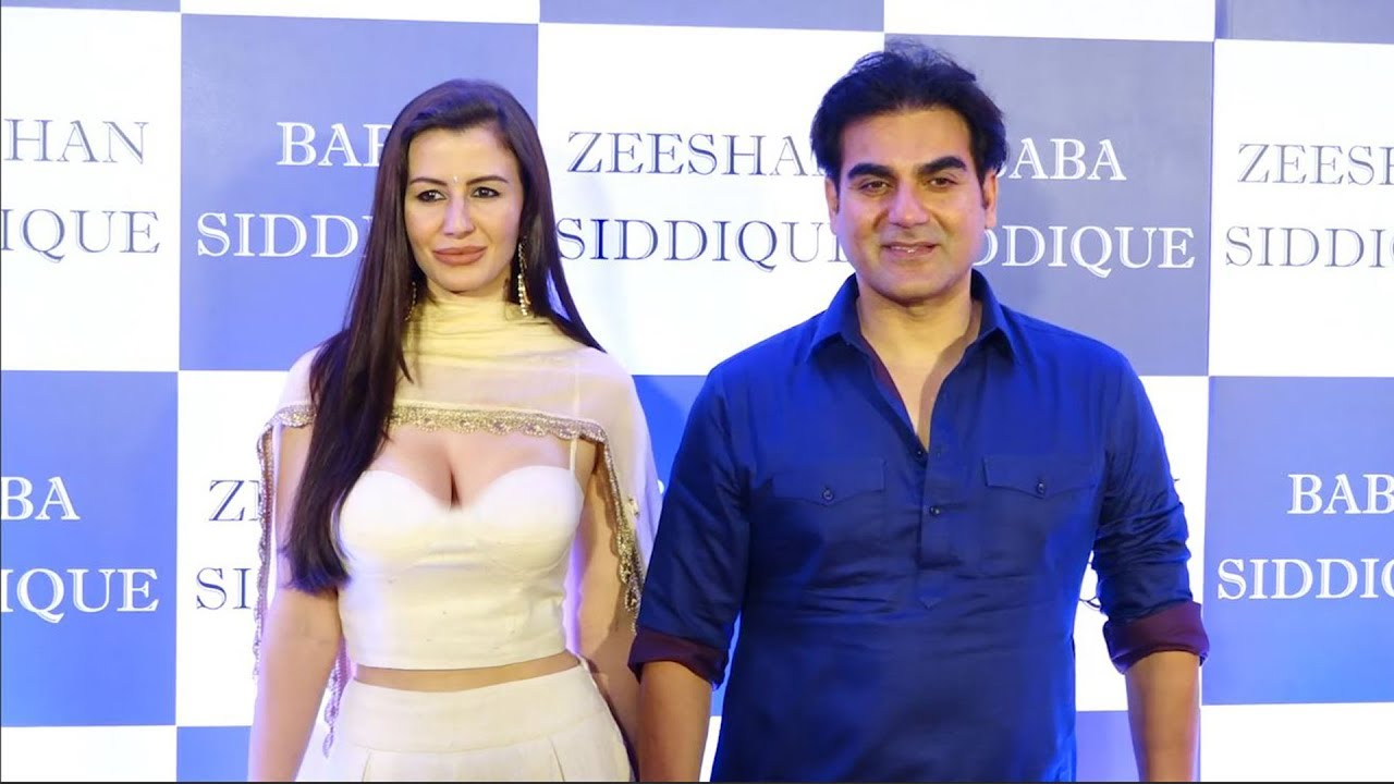 Arbaz khan with His H0T Girlfriend Giorgia Andriani At baba ...