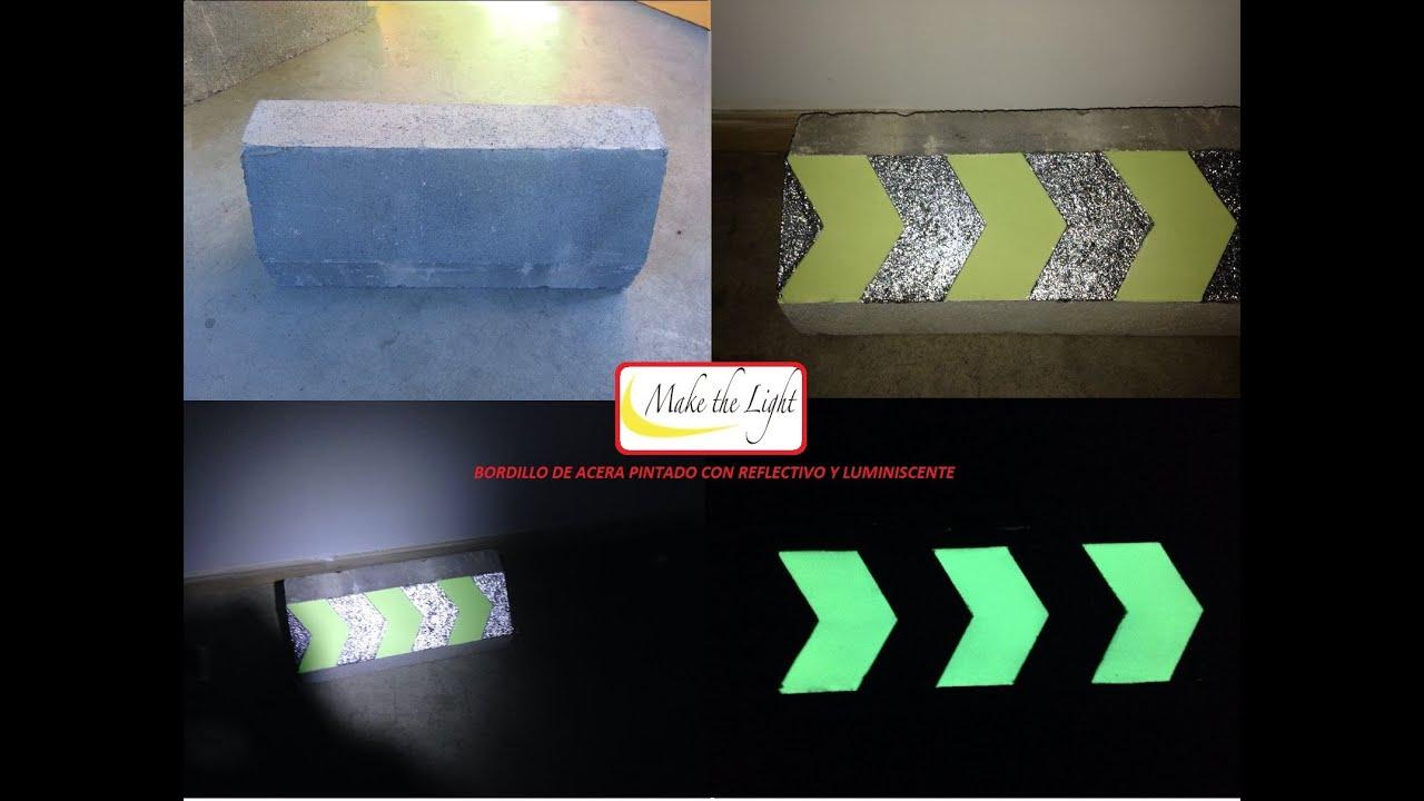 Pintura reflectiva y pintura luminiscente aplicada en - Pinturas para suelos de garajes ...