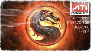 Radeon HD5670 Mortal Kombat 9 KE @44FPS