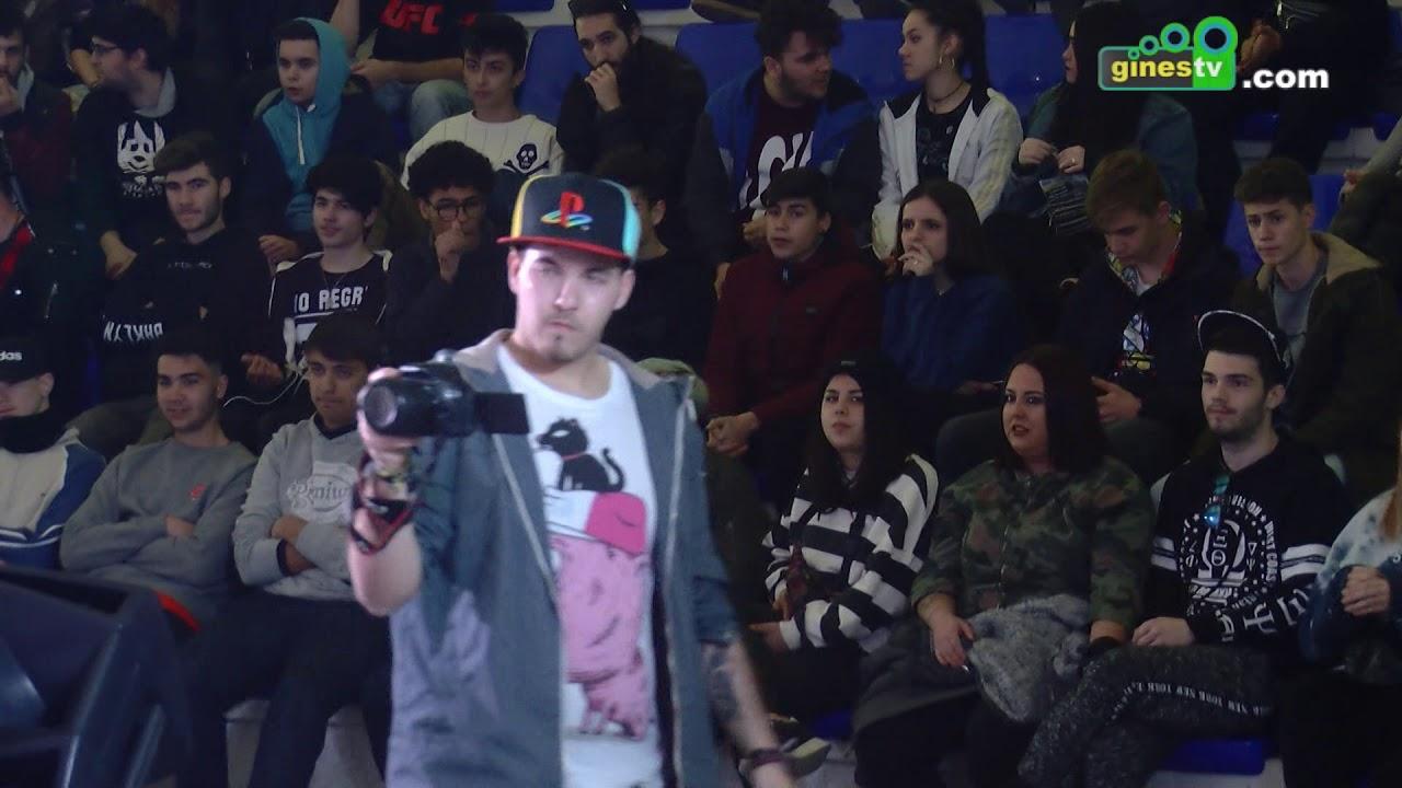 Gines acogió la final de '960 Battle', una llamativa competición de 'rap free style'