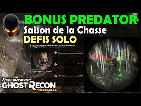 Ghost Recon Wildlands PREDATOR - Bonus event/Saison de la chasse - Hunt (Défis solo) [FR]