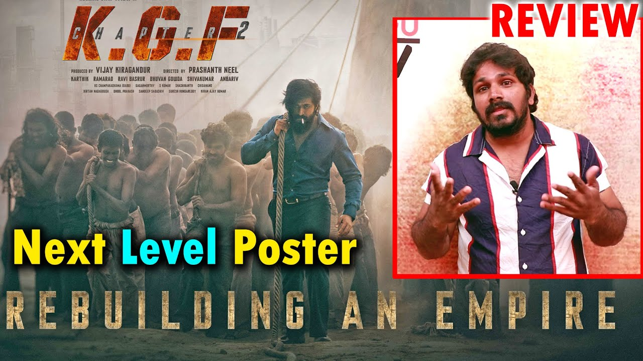 Download KGF Chapter 2 Rebuilding An Empire FIRST LOOK Poster REVIEW || KGF 2 First Look REACTION || YASH