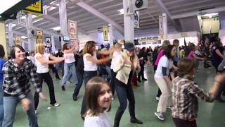 Marys Place Family Flash Mob Dance at Monmouth Park Racetrack