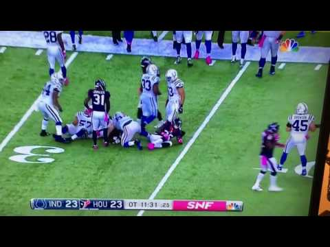K.J. Dillon blows out his knee with a dose of instant karma as he cheap shots a Colts player