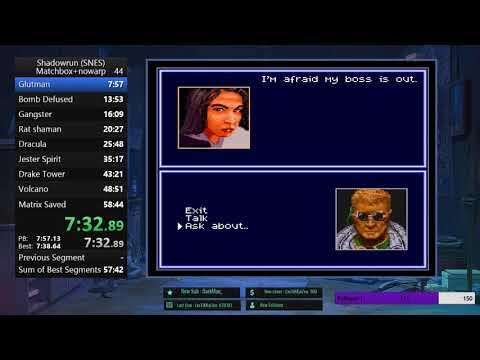 Shadowrun (Matchbox+NoWarp)  In 57:21 By Cookinapster