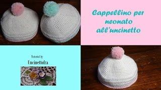 cappellino per neonato all