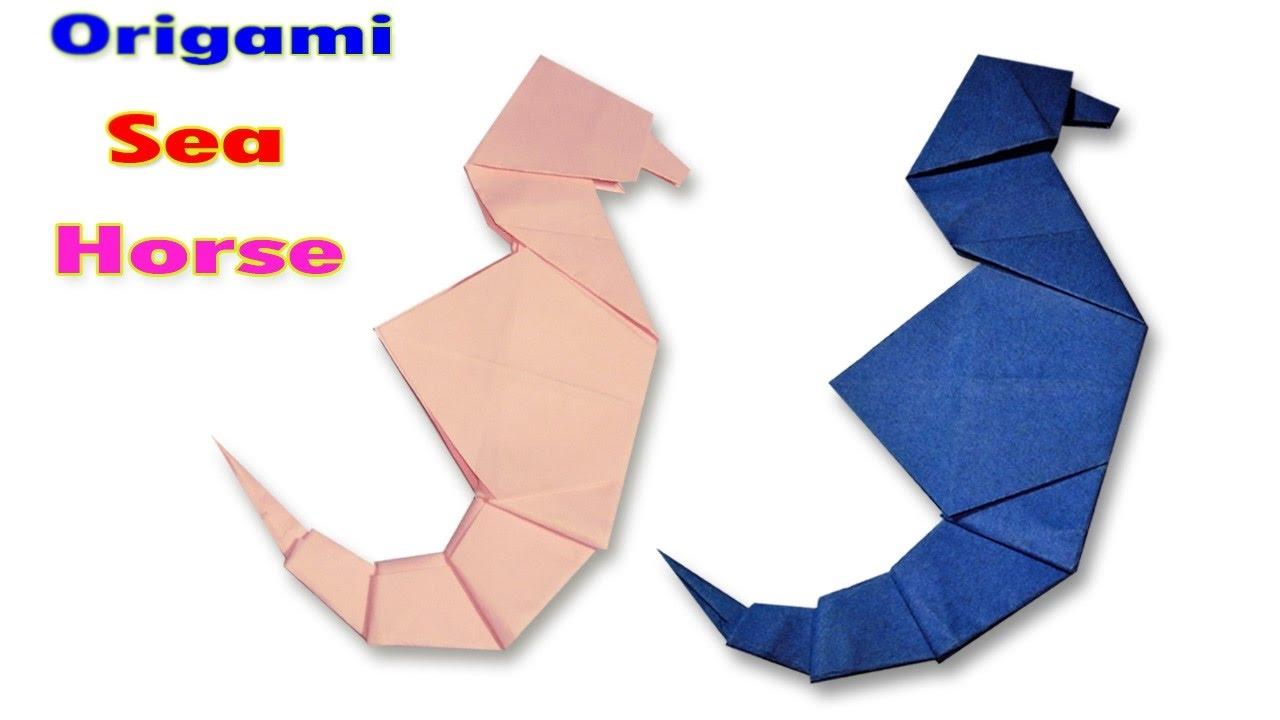 How To Make An Origami Sea Horseorigami Sea Horse Tutorialsorigami