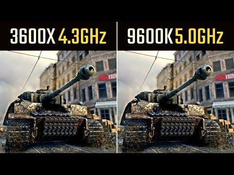 Ryzen 3600x vs. i5 9600K (9 Games)
