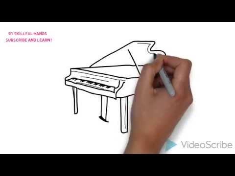 Как нарисовать рояль карандашом