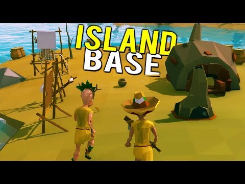 OUR ISLAND BASE! SECRET UNDERGROUND CAVERNS!  - Ylands Early Access Multiplayer Gameplay Part 1