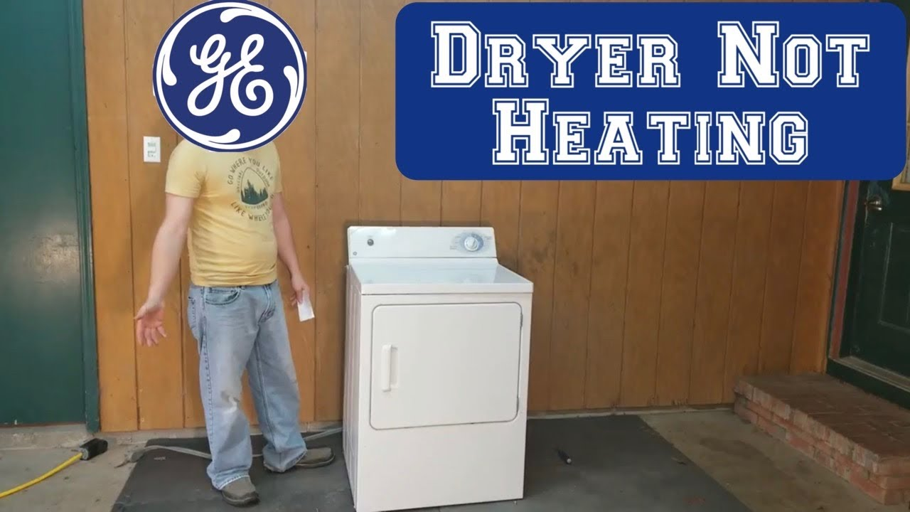 GE dryer step-by-step no heat or low heat troubleshooting guide for on