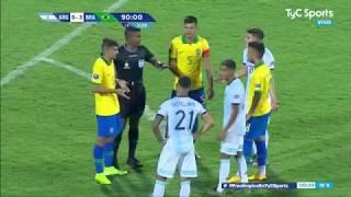 Preolímpico Sub-23: Argentina 0-3 Brasil (RESUMEN Y GOLES)