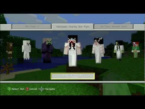 Minecraft Xbox 360: AWESOME Halloween Skin Pack
