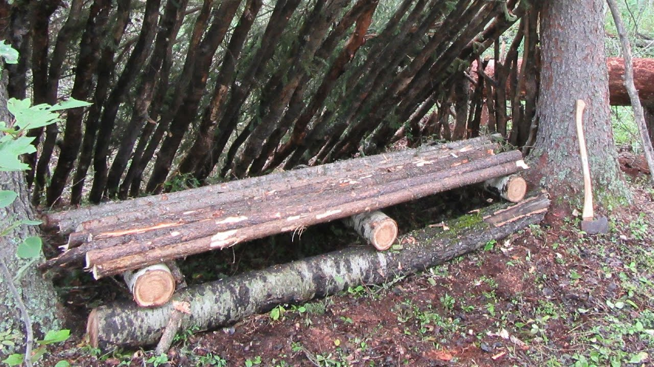 Building A Bushcraft Bed Bench Youtube
