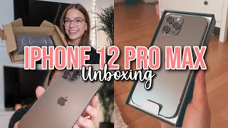 IPHONE 12 PRO MAX UNBOXING + FIRST IMPRESSION | Hannah Theresa