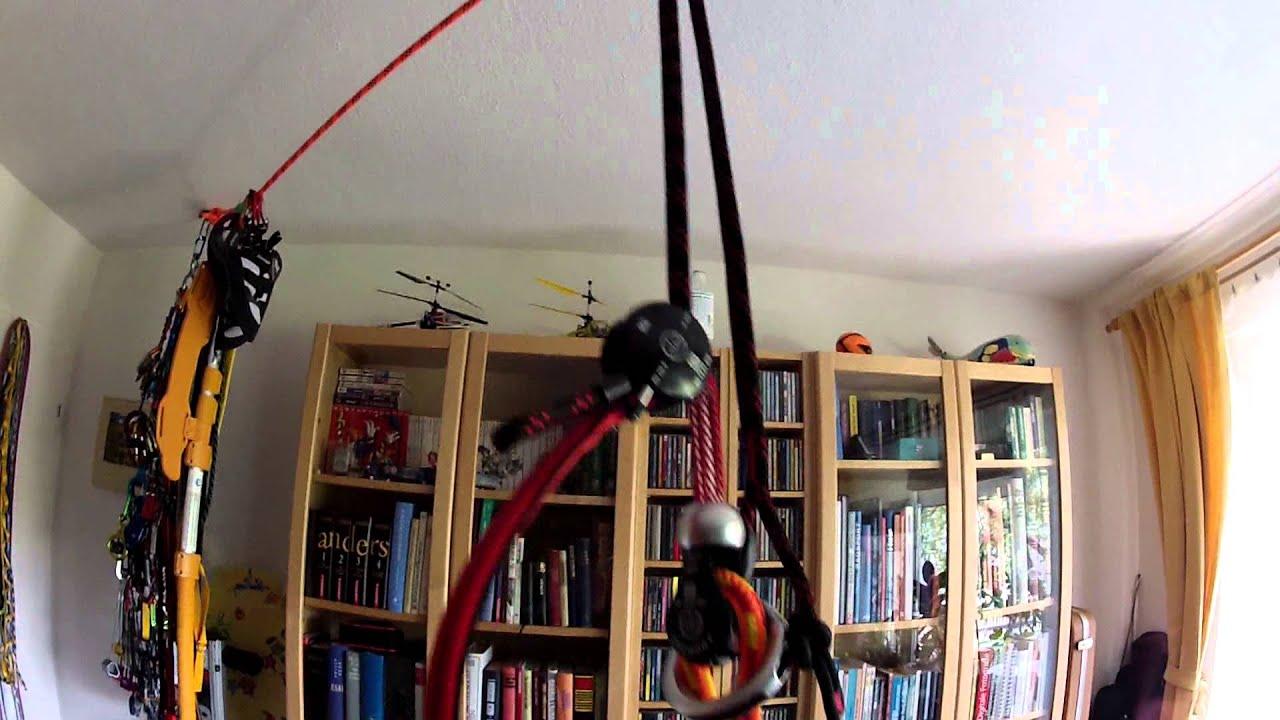 Klettergurt Für Baumklettern : Install rope guide without tools art ropeguide einbau ohne