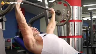 видео Упражнения для мышц груди со штангой