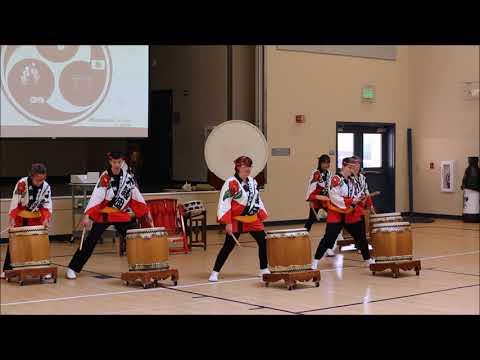 Taiko Dan Artist Residency at Esparto Middle School 2018