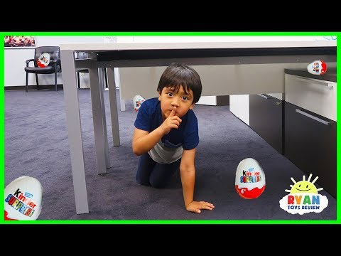 Ryan plays Hide and Seek in the new office + NEW CHANNEL The Studio Space