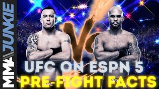 UFC on ESPN 5 pre-fight facts: Colby Covington vs. Robbie Lawler