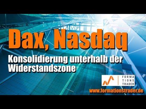 Dax, Nasdaq: Konsolidierung unterhalb der Widerstandszone