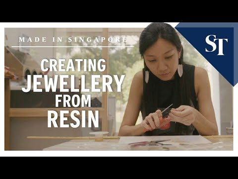 Creating jewellery from resin | Made in Singapore | The Straits Times