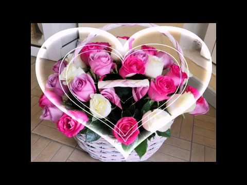 35 разноцветных роз в корзине. Корзина роз. Розы в  губке. 15РОЗ