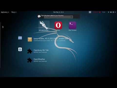 Kali Linux - Installation Opera && Adobe Flash-player