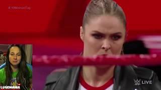 WWE Raw 4/23/18 10 Women Tag