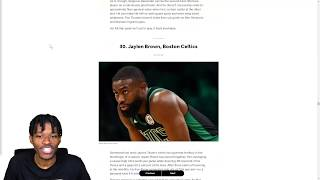 REACTING TO THE TOP 100 PLAYERS IN THE NBA LIST FROM BLEACHER REPORT