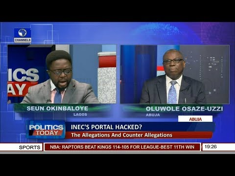 Allegations & Counter Allegations Over Alleged INEC Portal Hack Pt.1 |Politics Today|