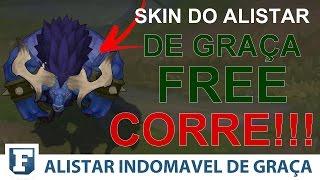 SKIN ALISTAR INDOMAVEL DE GRAÇA (COMO RESGATAR O CODIGO)