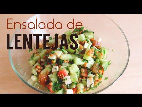 Ensalada de lentejas Receta vegetariana  YouTube