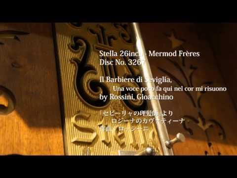 """Stella 26"""" Disc No. 3267 Il Barbiere di Seviglia, Una voce poco fa qui nel cor mi risuono"""