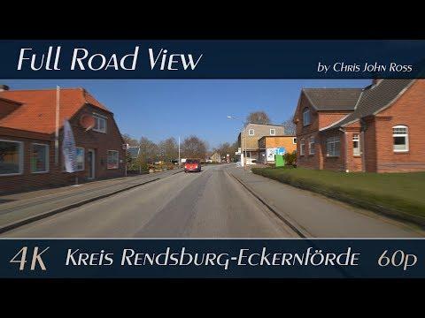 hohn,-kreis-rendsburg-eckernförde,-germany:-hauptstraße,-bundesstraße-(b202)---4k-(uhd/2160p/60p)