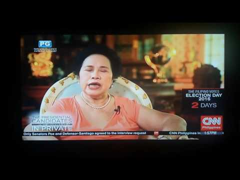Miriam Defensor Santiago on CNN