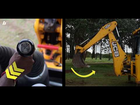 JCB 3DX new technology 2018 Operation – How to Operate a JCB Bucket (Backhoe Loader)