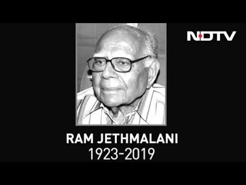 Ram Jethmalani, Veteran Lawyer And Former Union Minister