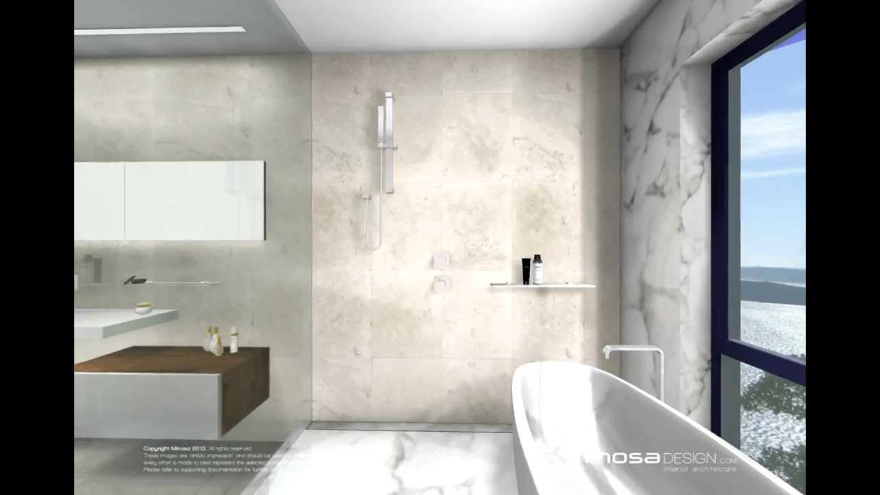 Bathroom design feature floor to ceiling marble youtube