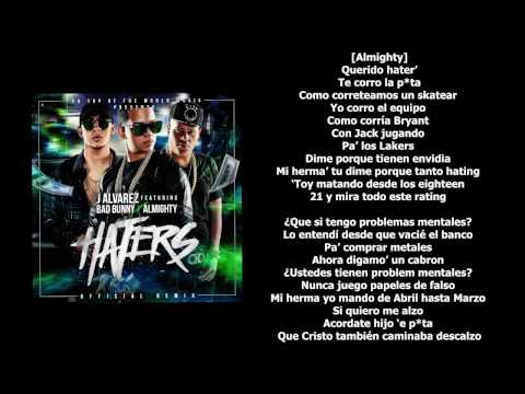 Haters (Remix) - J Alvarez x Bad Bunny x Almighty [LETRA-KARAOKE]