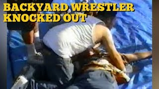 Backyard Wrestler Knocked Out By Chair Shot