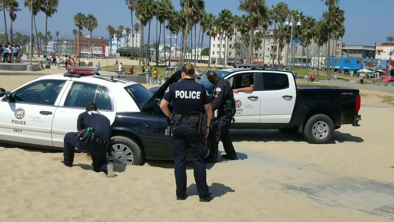 Part 2 Lapd Police Car Runs Over A Woman In The Sand