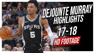 Spurs PG Dejounte Murray 2017-2018 Season Highlights ᴴᴰ