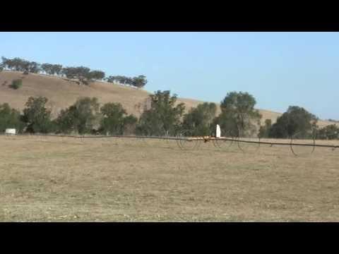 NEW SIDE ROLL OPERATING IN SLOPE - FARM IN  AUSTRALIA